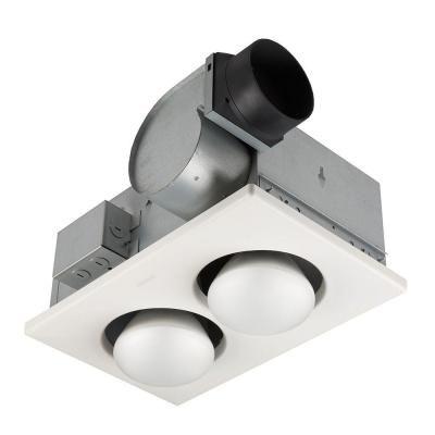 Nutone 70 Cfm Ceiling Exhaust Fan With 2 250 Watt Infrared Bulb Heater 9427p At The Home Depot Bathroom Heat Lamp Broan Fan Light