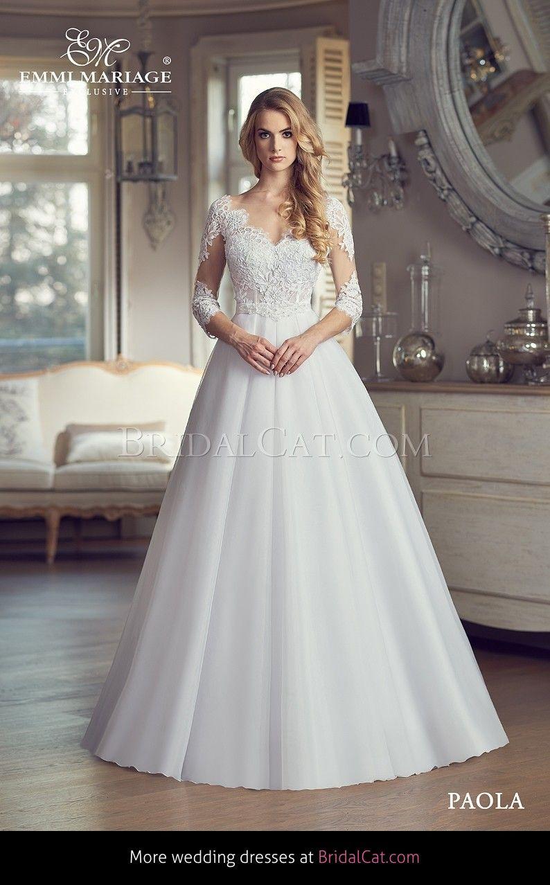 Emmi Mariage - Paola - 15  Brautkleid, Schnittchen, Schleppe