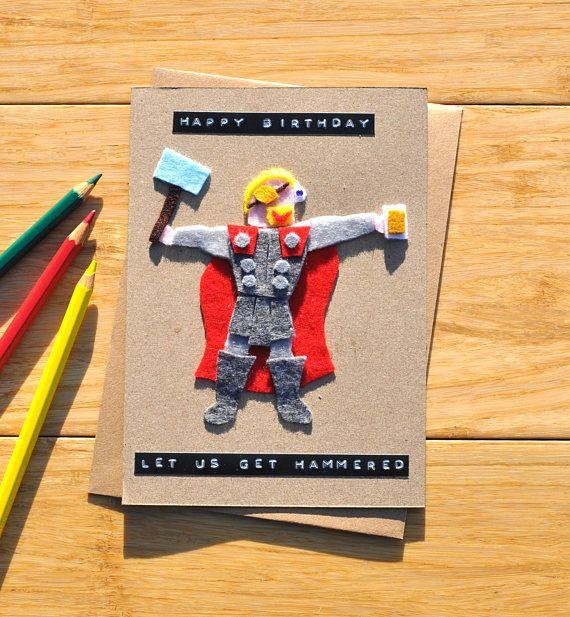 Thor Birthday Card Marvel Greeting Card Ragnarok Edition