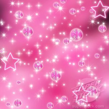 pink christmas ornaments and stars on a pink background