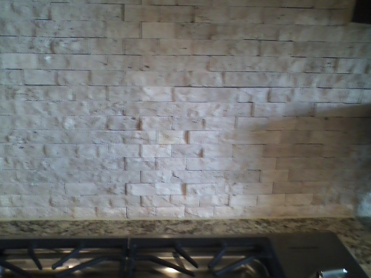 Master Bath Rough Travertine Backsplash Kitchen