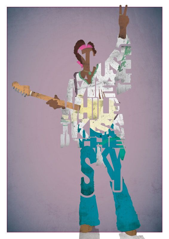 Jimi Hendrix - Kiss The Sky by Ayse T. Werner