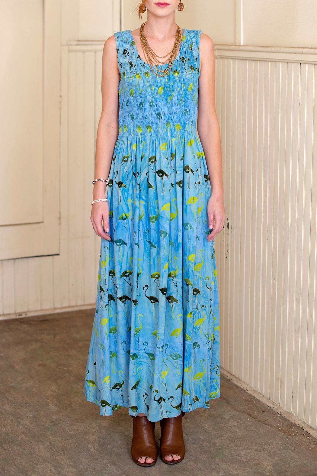 dd44ced7cfd Blue Batik Maxi Dress