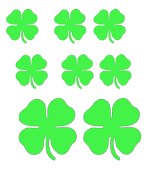free printable lucky 4 leaf clover cutouts - Four Leaf Clover Printable