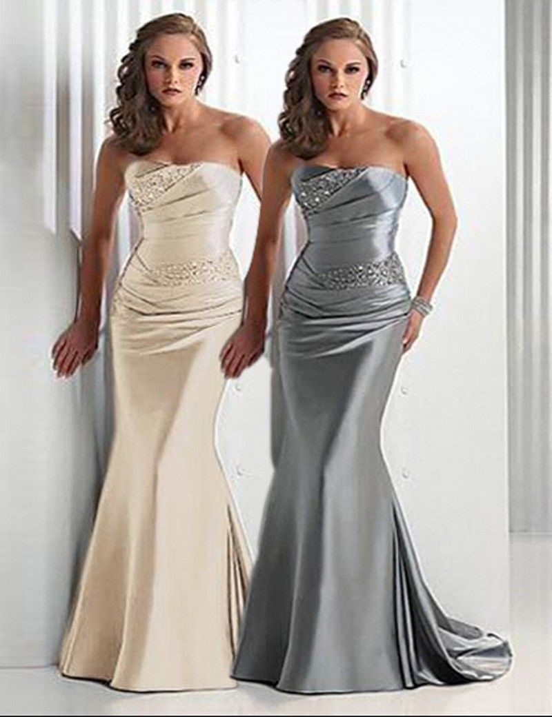 Medium Crop Of Silver Bridesmaid Dresses