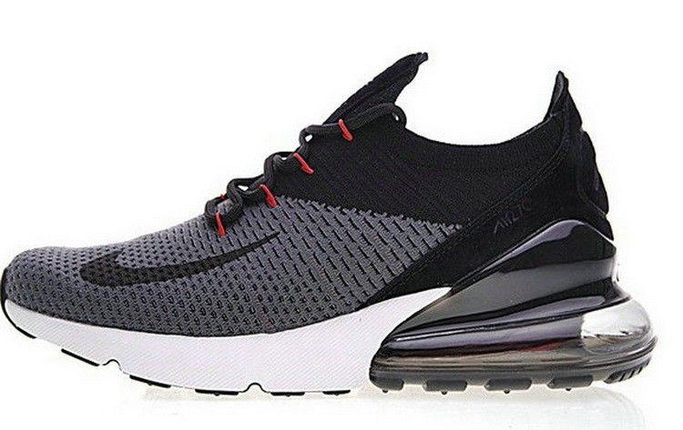 sale retailer ab86d f6e9e Nike Air Max FLyknit 270 Noir Blanc Gris Ah8050 002