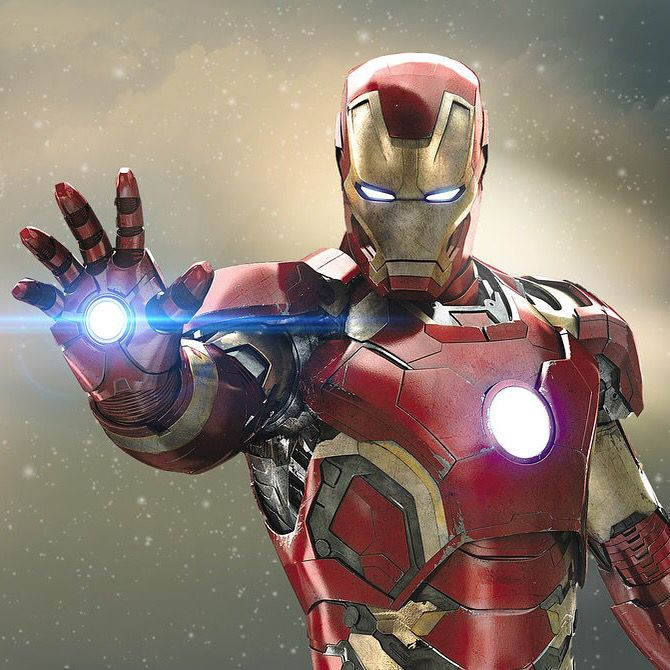 Iron man image to describe what a powered exoskeleton is.