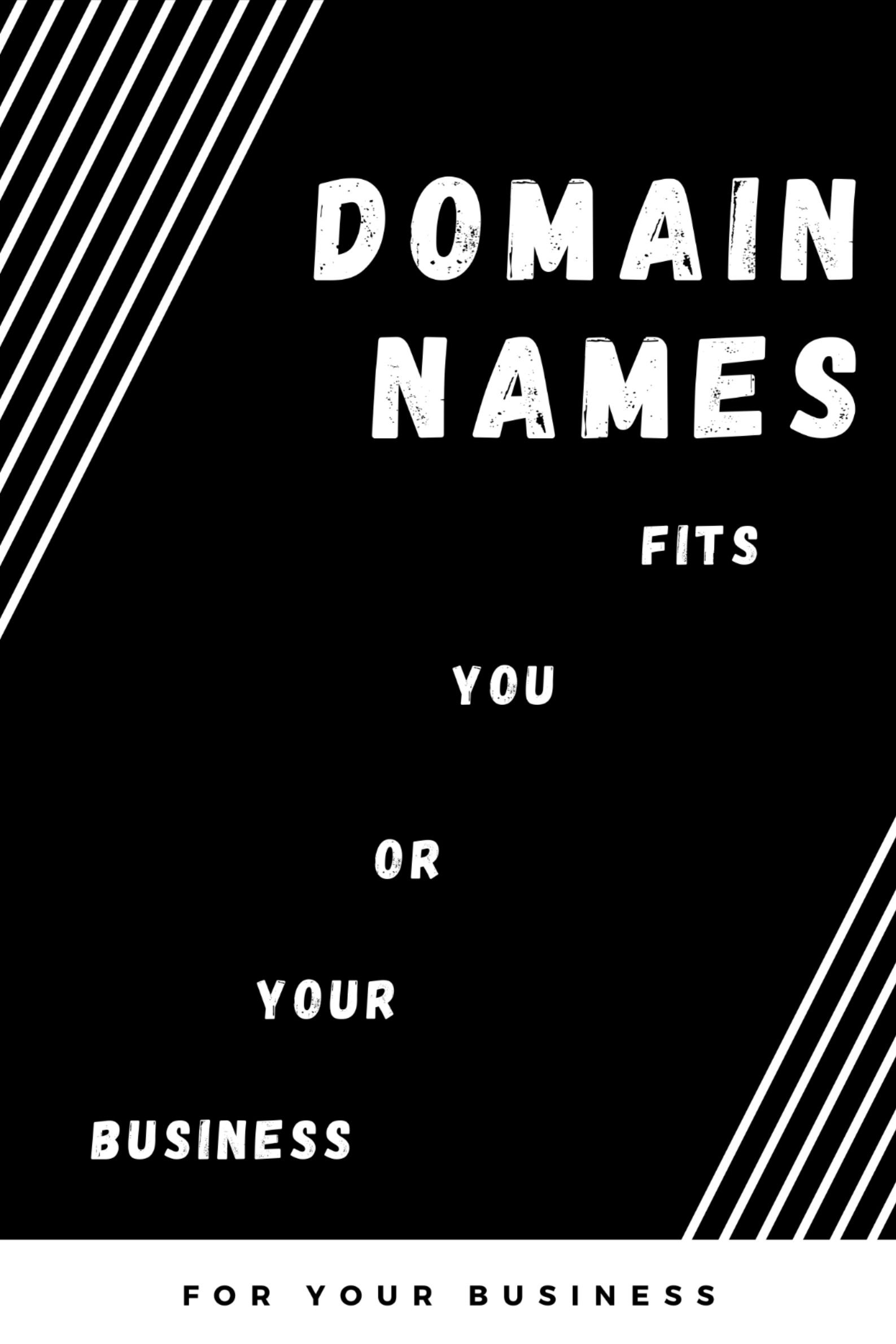 I Will Find Available Domain Names That Fits You Or Your Business In 2020 Names Business Domain