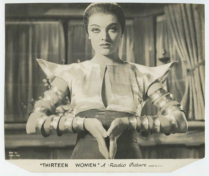 MYRNA LOY 1932 Vintage Hollywood Vixen Portrait THIRTEEN WOMEN