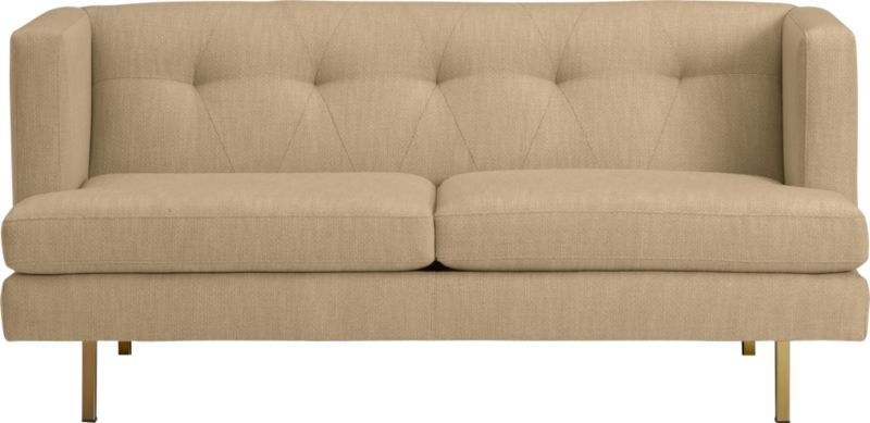 avec apartment sofa with brass legs (