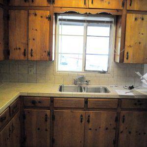 Updating pine kitchen cupboards