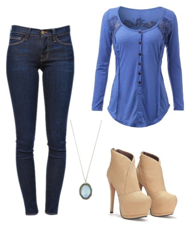"""Untitled #234"" by kirstenmyriehoran ❤ liked on Polyvore featuring Frame Denim and Armenta"