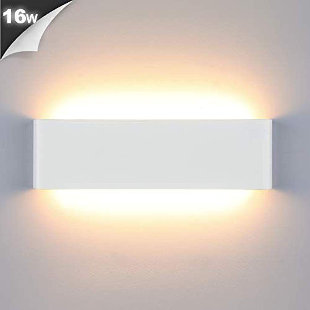 Lightess 16w Wandleuchte Innen Led Treppenhaus Lampen Moderne Wandlampe Weiss Mit Up Down Licht Ip44 Aus Reinem Aluminium Fur Wohnzim In 2020 Wandleuchte Wandlampe Led