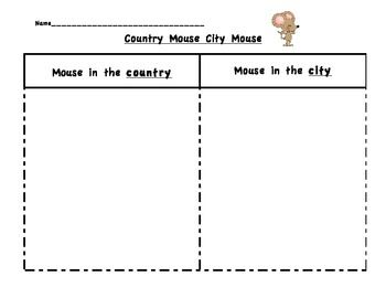 the city mouse and the country mouse worksheets - Buscar con ...