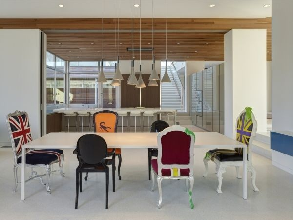 Esszimmer Мöbel Gepolsterte Stühle-Fahne Muster-Großbritanien - esszimmer stuhle perfektes ambiente farbe