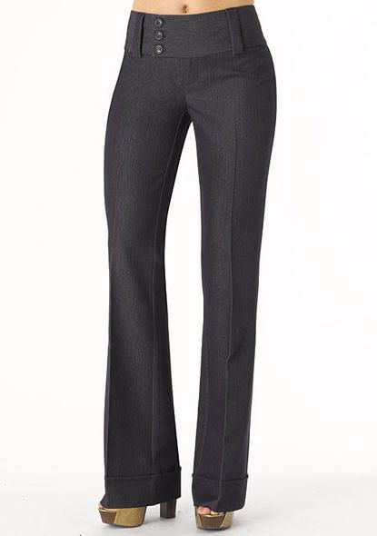 Stanton Stretch Trouser Gray Texture Calca Social Feminina Calca Social Calcas Sociais Femininas