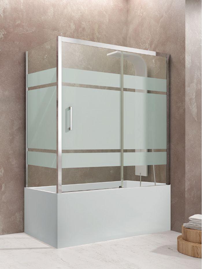 Pare baignoire AKTUAL FROST PLUS en accès de face avec 2 panneaux