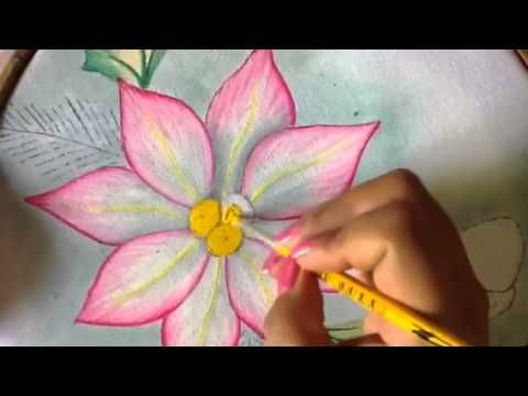 Pintura en tela ptalos de nochebuena  3 con cony