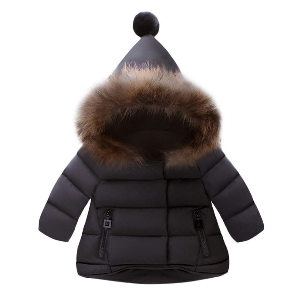 341a66f03bc0 Baby Girls Boys Kids Jacket Coat Autumn Winter Warm Children Clothes ...