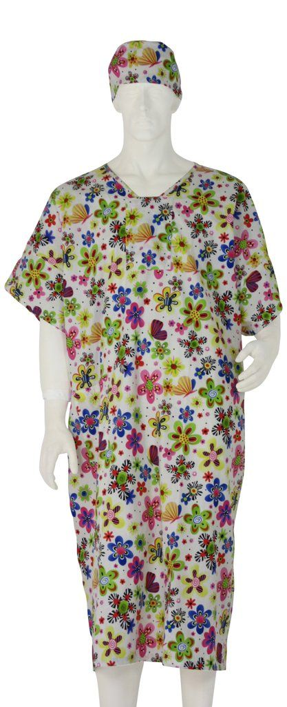 Hospital Gowns Pretty Flowers - Small / White | Pinterest | Products