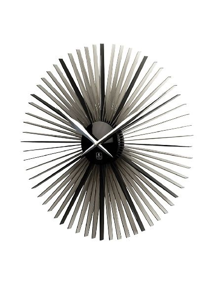 Cupecoy Design Daisy Acrylic Wall Clock With Silver