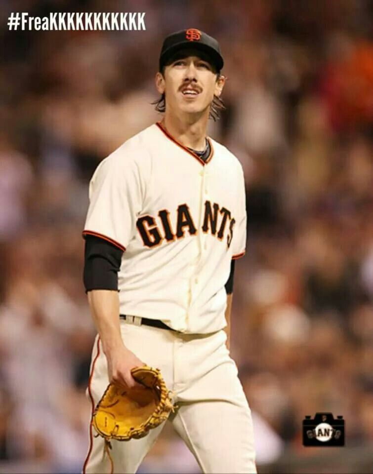 Tim Lincecum Short Hair And Mustache 2014 San Francisco Giants Baseball Sf Giants Baseball Sf Giants Baby