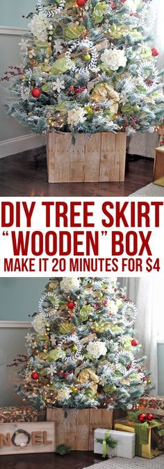 Diy Faux Barn Wood Christmas Tree Stand The Craft Patch