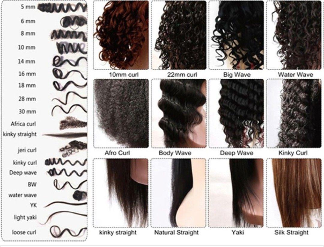 pin peacock hair curl types