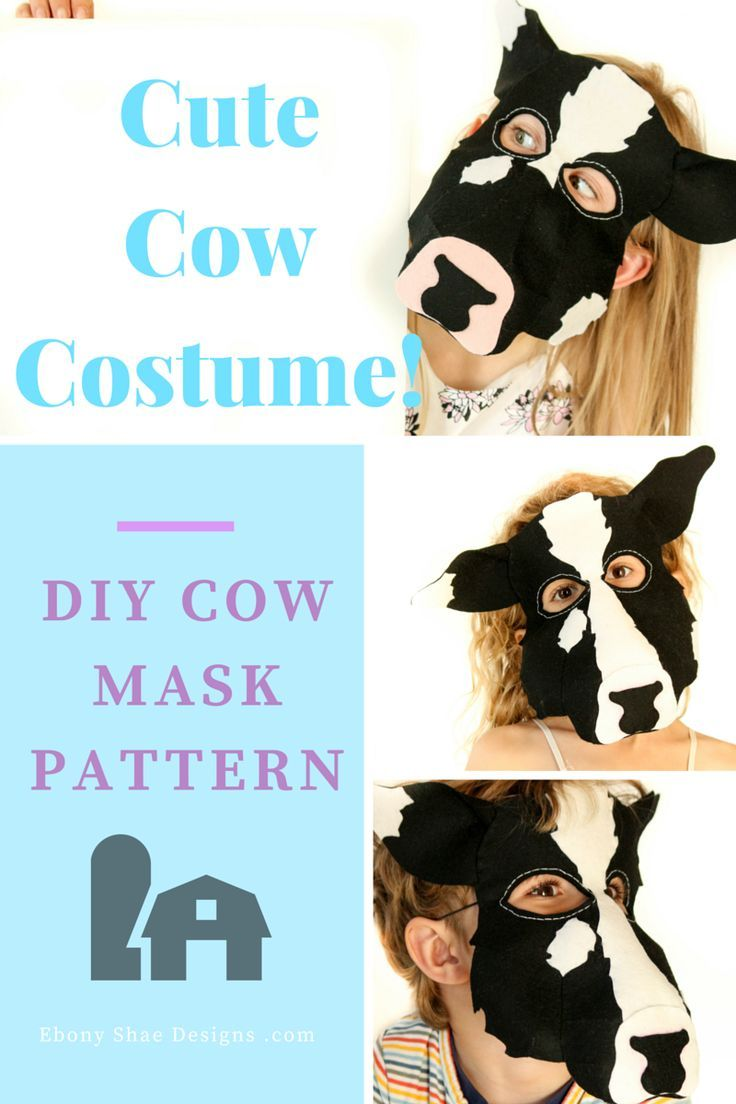 Cow mask pdf mask sewing pattern kids cow costume cow mask cow mask pdf pattern great cow mask sewing pattern fantastic for book week jeuxipadfo Images