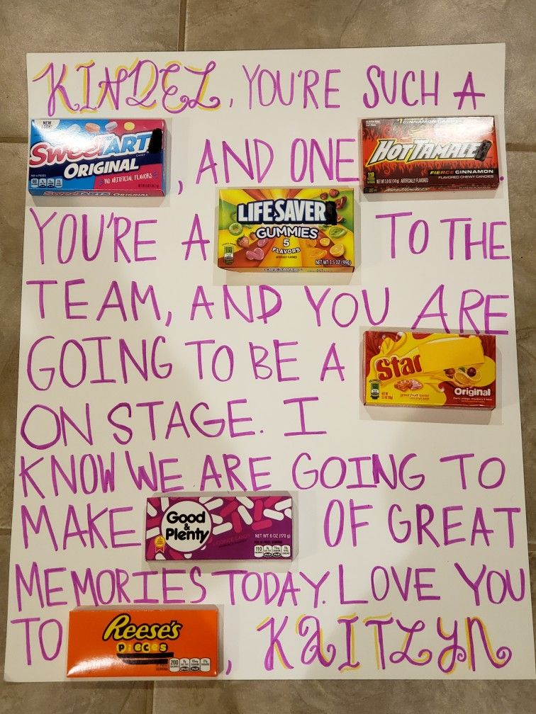 A Cute Gift For Your Big Sister On Dance Competition Day