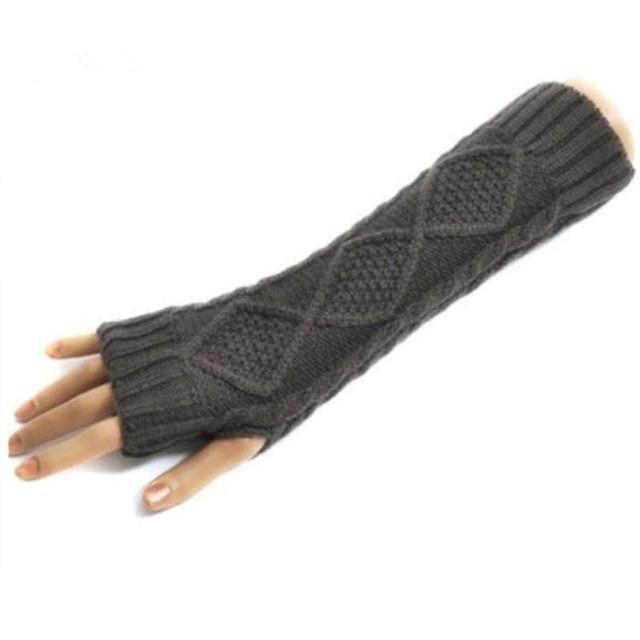 2016 New Arrival mittens Women\'s fingerless long Knit gloves Warm ...
