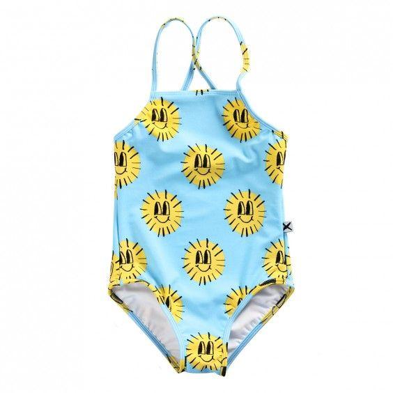 Minti Swimsuit Sunface - Sky Blue