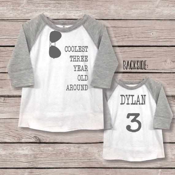 Three Shirt Boy 3rd Birthday T Third Boys