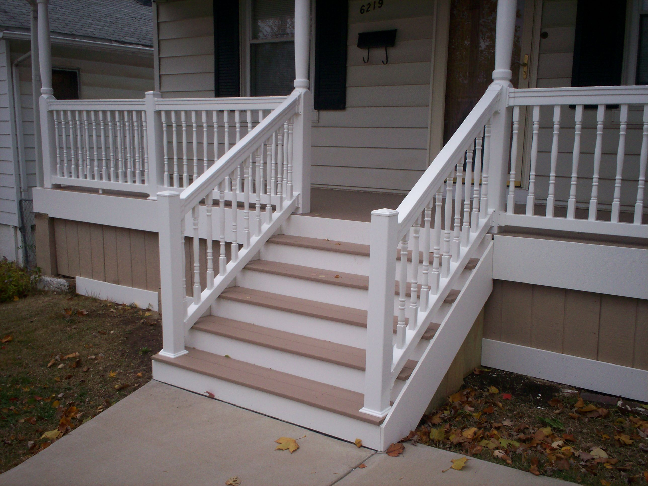 Best Azek Front Porch With Vinyl Railings And Columns In St 400 x 300