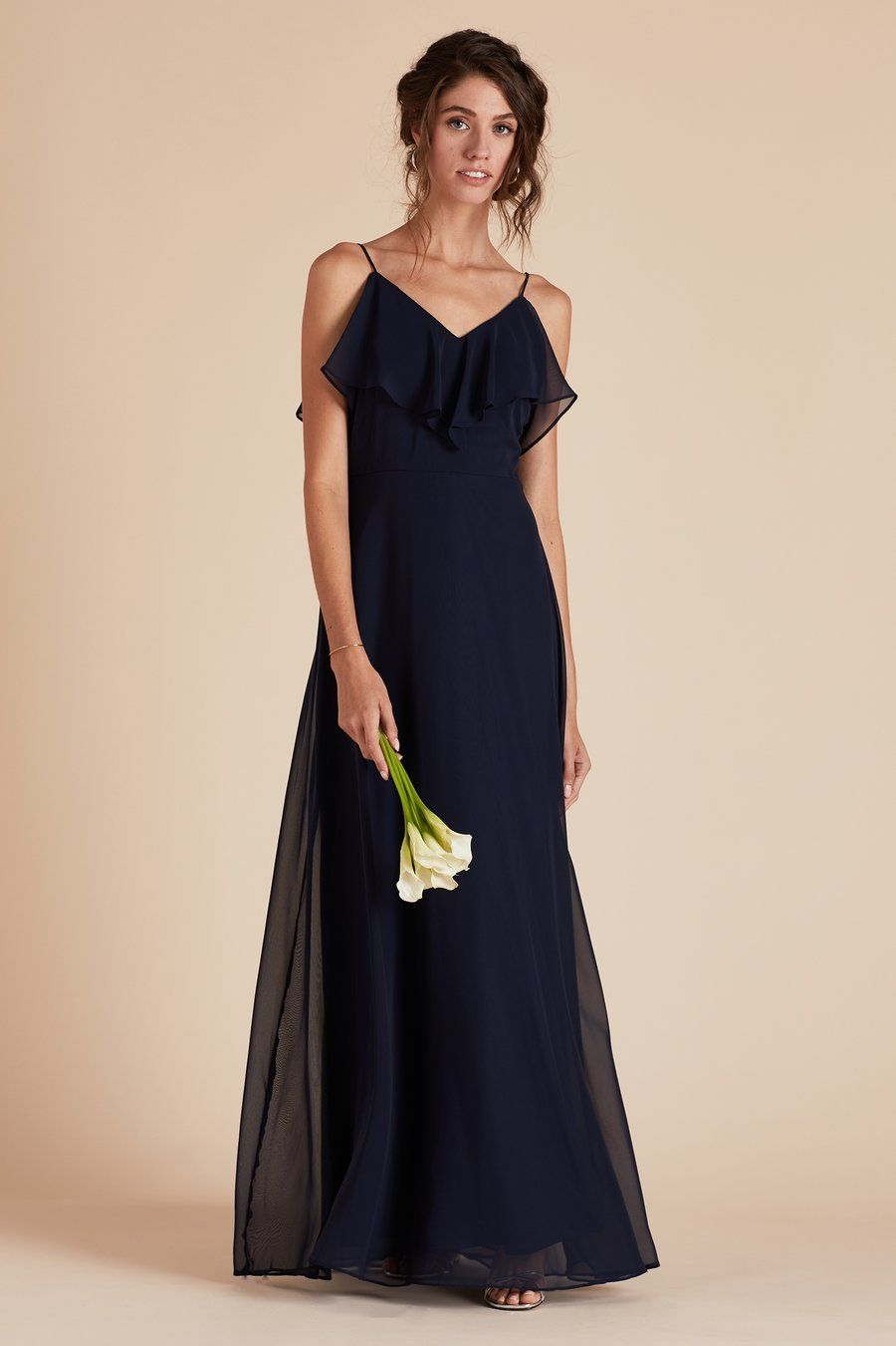 Navy Bridesmaid Dress Under 100 By Birdy Grey Jane Ruffle Convertible Gown