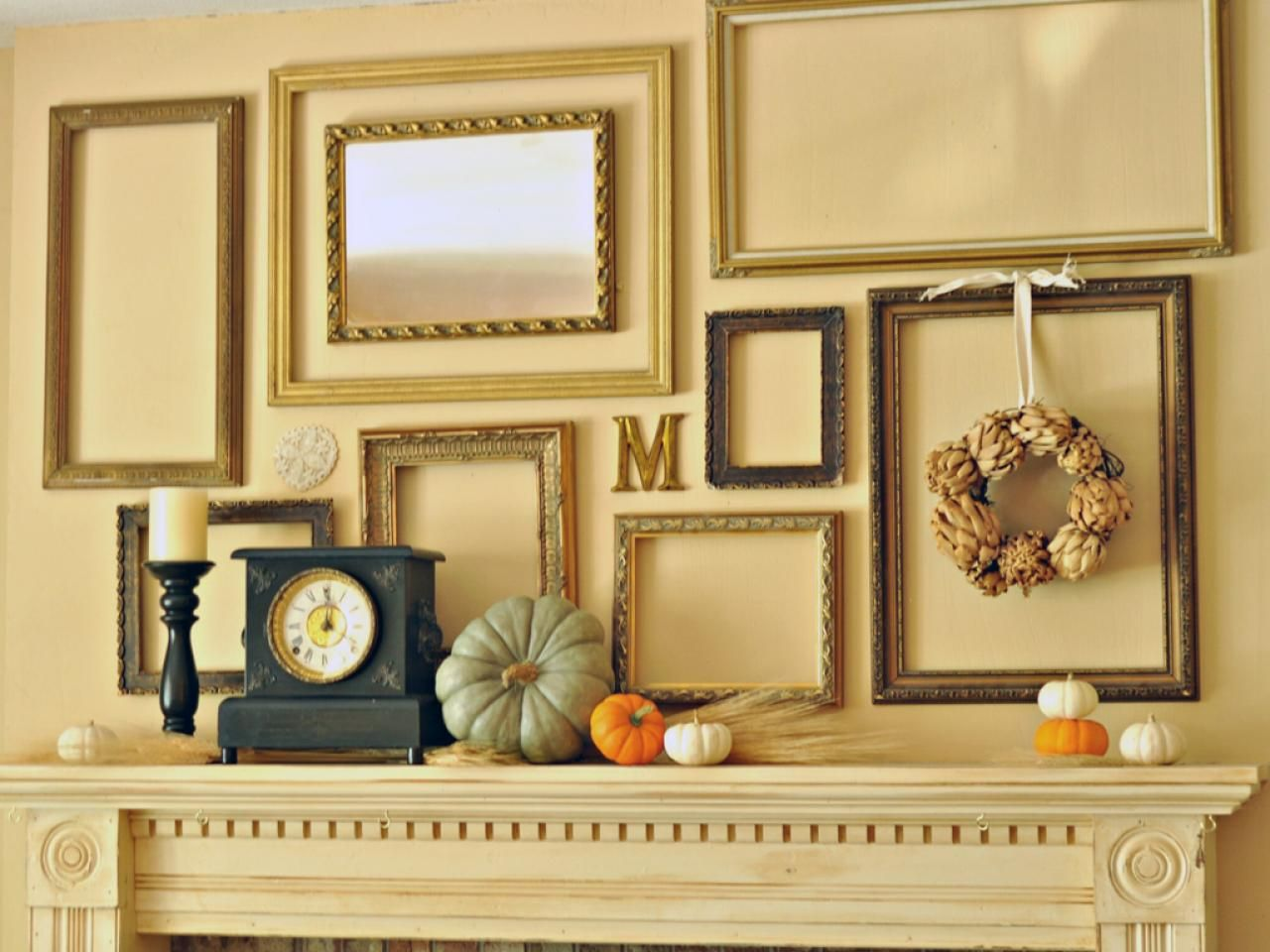 9 Ways to Deck Out Your Walls for Fall | Open frame, Hgtv and Display