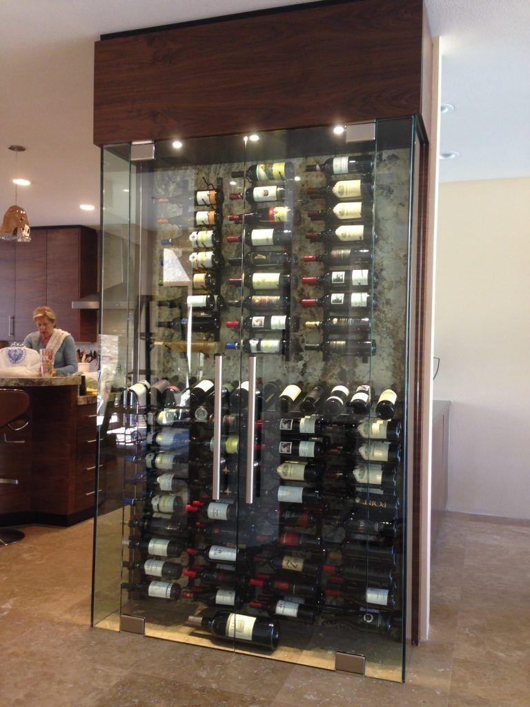 Floor To Ceiling Mounting Frame Create Specialty Wine Displays In 2020 Wine Display Wine Storage Wall Wine Wall Display