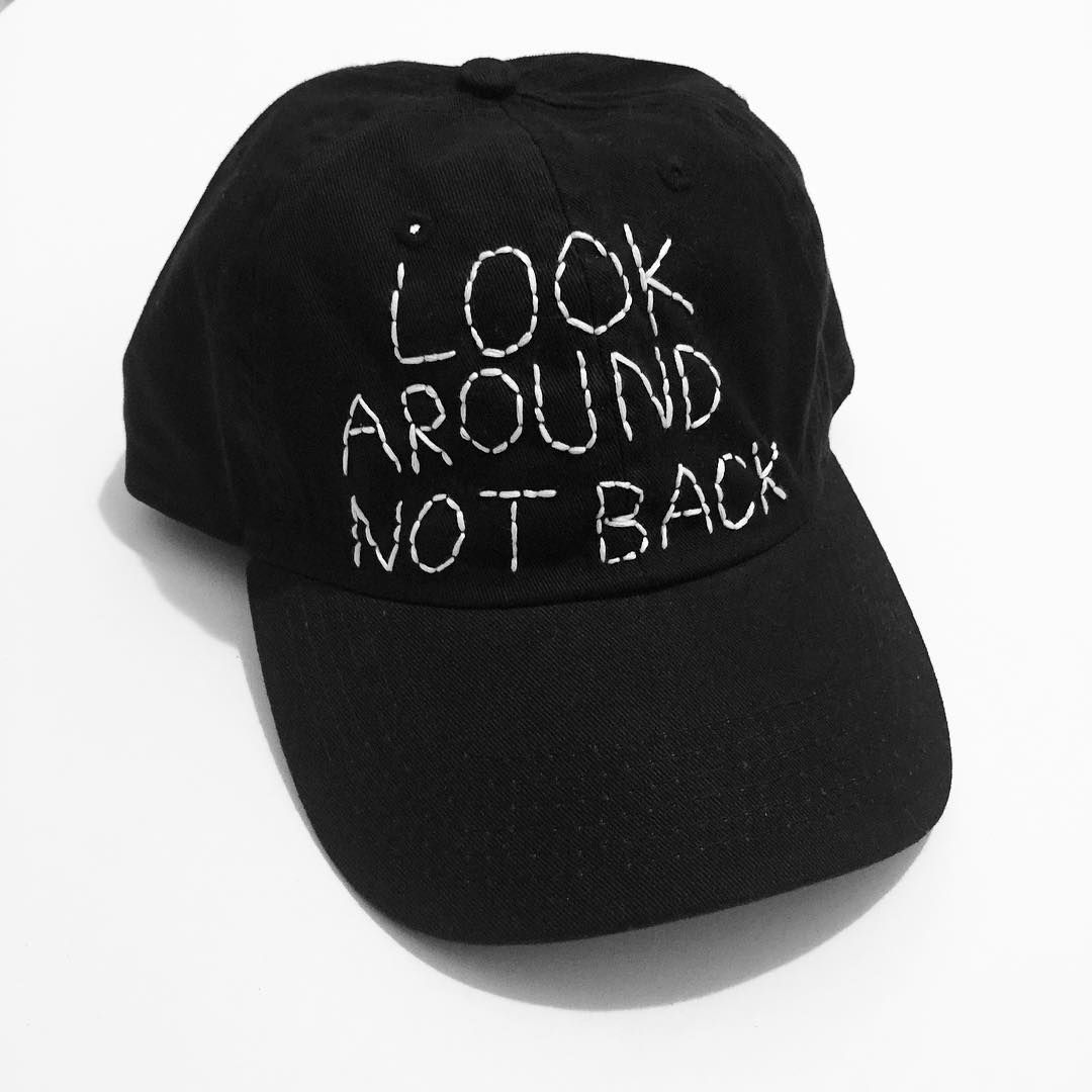 Amberibarreche On Instagram Look Around Not Back One Of A Kind Hand Embroidered Black Cap Available In Shopify Link In Hand Embroidered Black Cap Embroidered