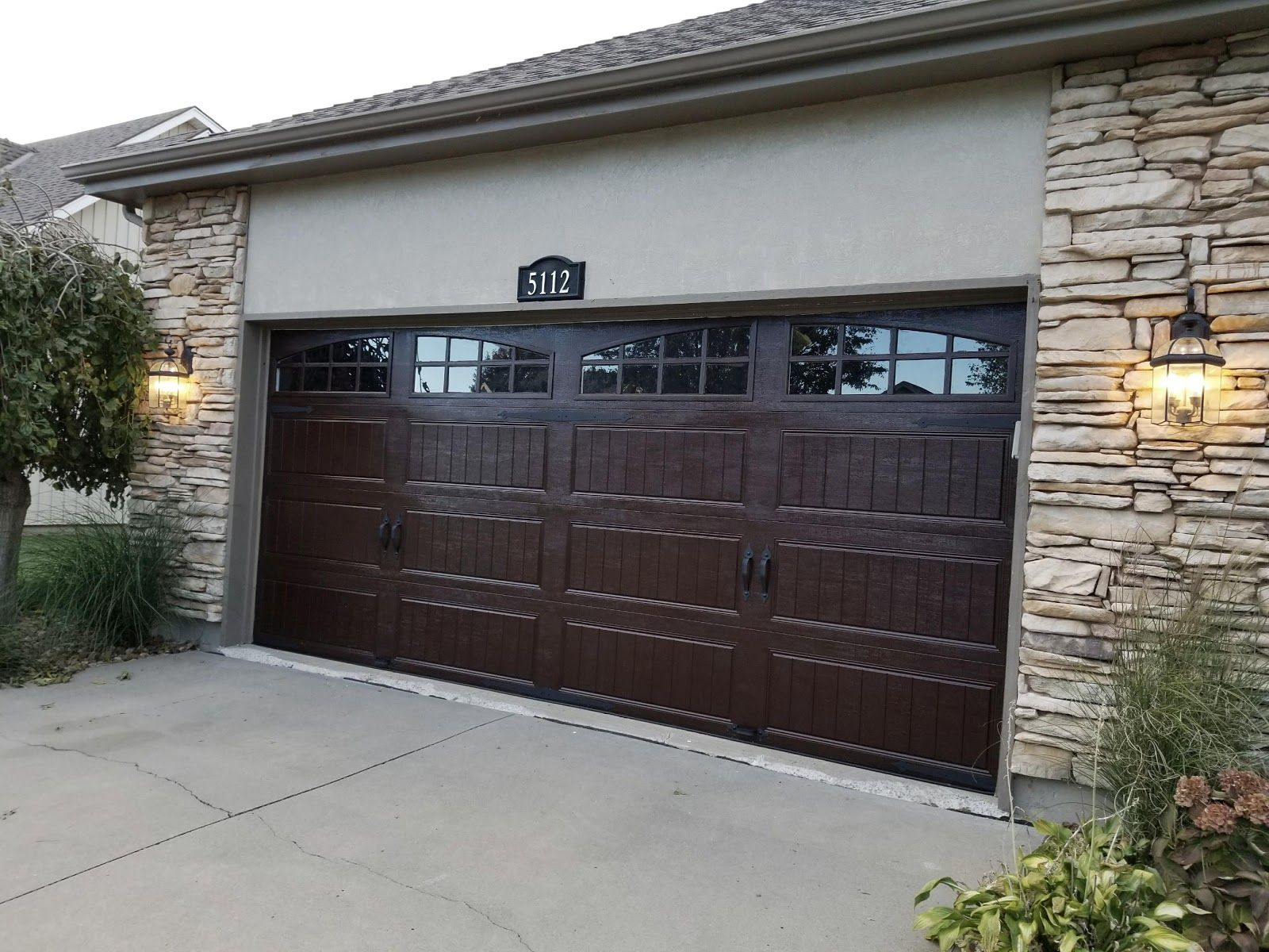 Gel Stain On Garage Door Garage Door Makeover Faux Wood Garage