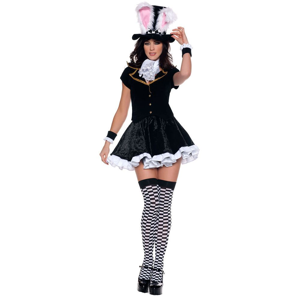 Mad Hatter Ladies Fancy Dress Costumes Fairytale Sizes 8 10 12 14 16 18
