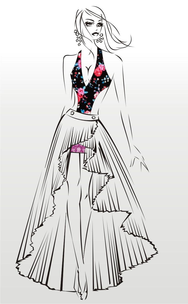 Desenho De Moda Fashion Fashion Illustration Fashion Sketches