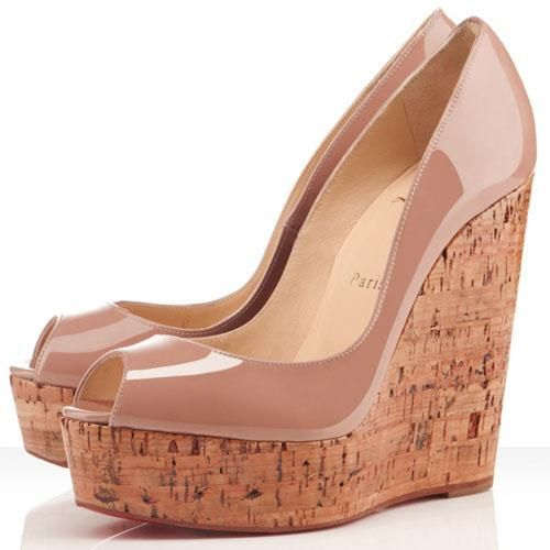 87376fbf1 Christian Louboutin Uue Plume 140mm Wedges Nude | Peep Toe in 2019 ...