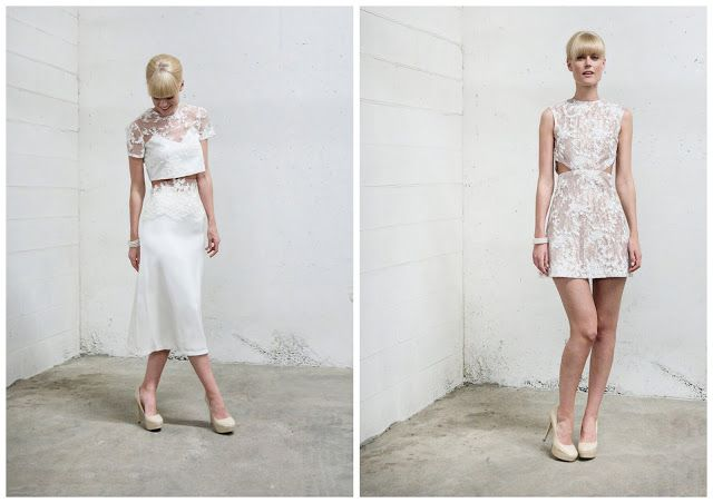 Wedding Trend for 2014 - Two-Piece Wedding Dresses