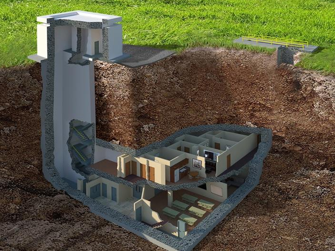 How To Build A Doomsday Family Bunker | Bunker, Home theaters and ...