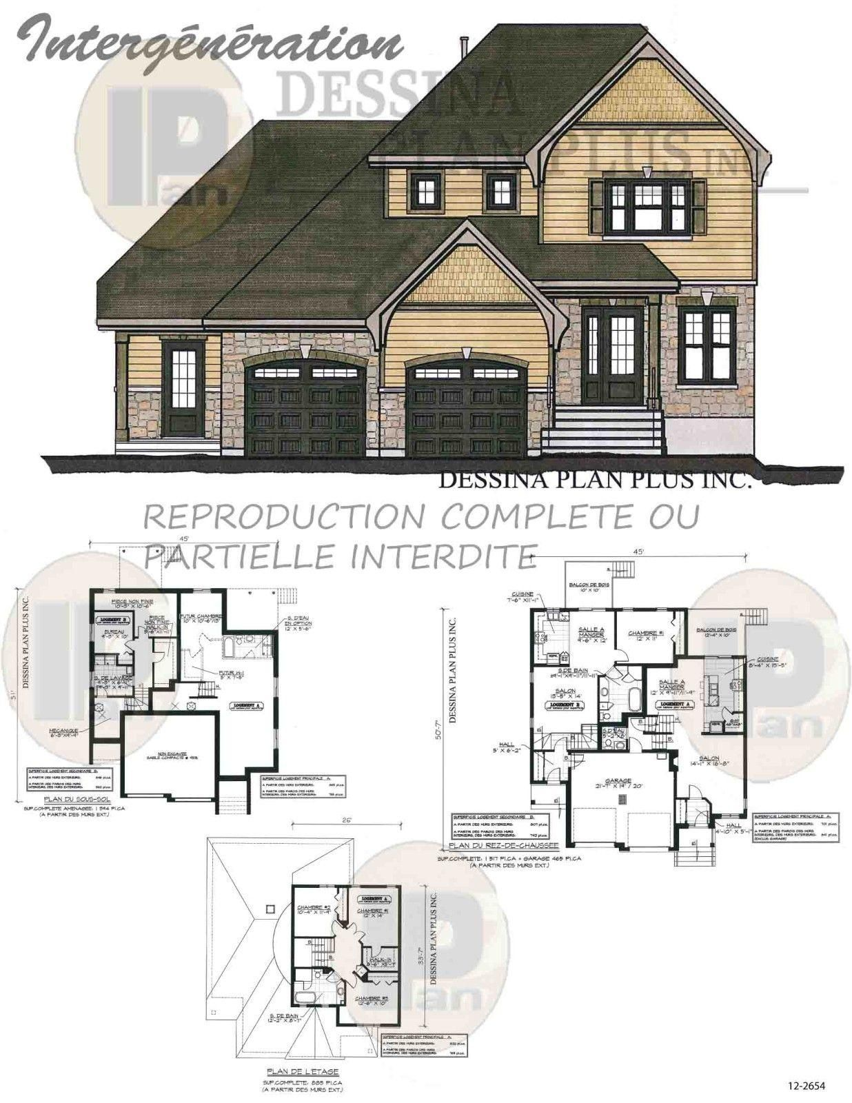 18 Plan Maison Intergeneration Cote A Cote Floor Plans How To Plan Good Company