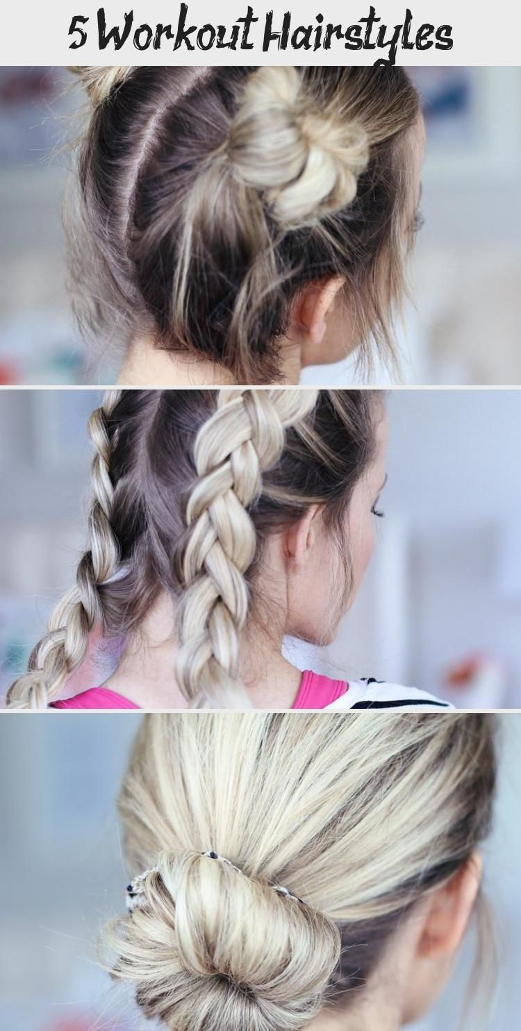 Workout Updos Gym Hairstyles Workout Updos In 2020 Easy Hairstyles Hair Styles Workout Hairstyles