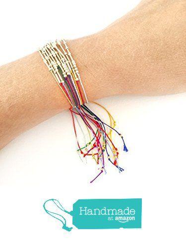 Gold Bead and Silk Thread Bracelets Morse Code Birthday Bracelets from Adorn512 https://www.amazon.com/dp/B015QD5YSS/ref=hnd_sw_r_pi_dp_ROqoybE569YWG #handmadeatamazon