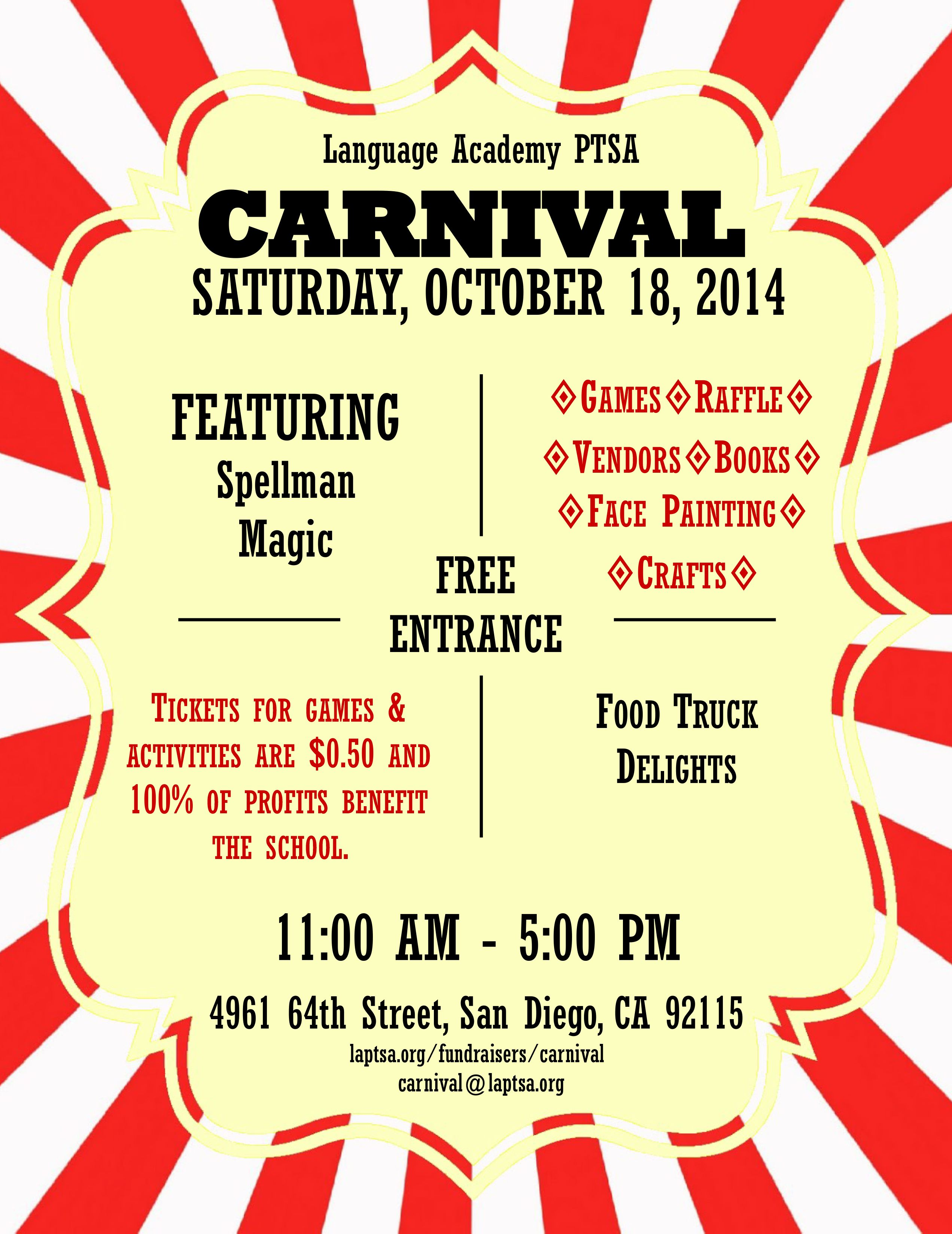 cancer fundraiser carnival flyer examples