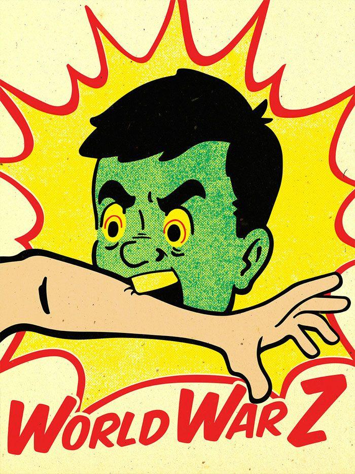 Alternative movie poster for World War Z by Derek Eads
