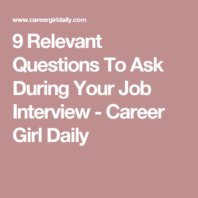 questions to ask at a job interview
